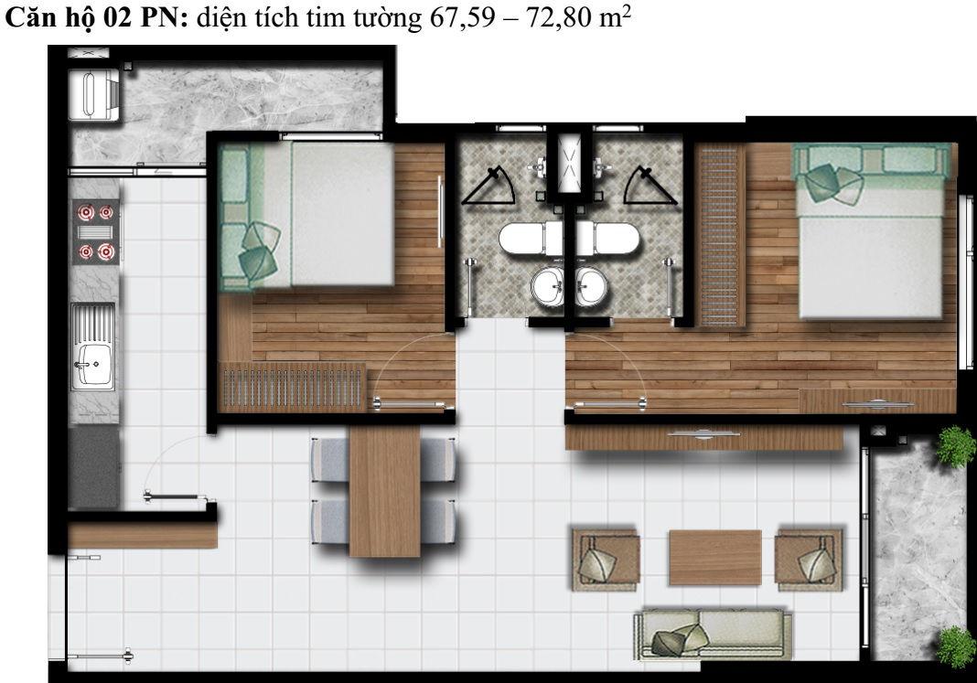 Mặt bằng Dự án căn hộ cao cấp Phú Đông Premier 9