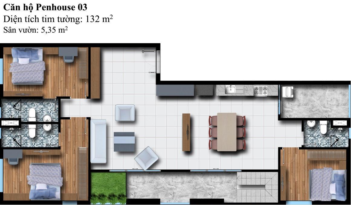 Mặt bằng Dự án căn hộ cao cấp Phú Đông Premier 8