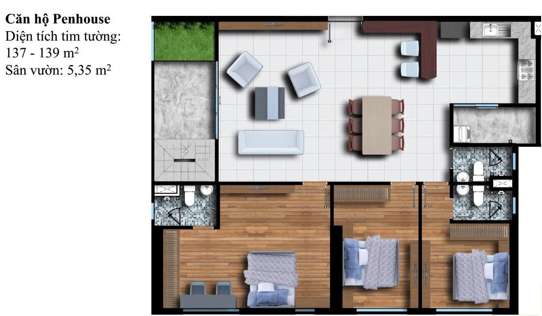 Mặt bằng Dự án căn hộ cao cấp Phú Đông Premier 7
