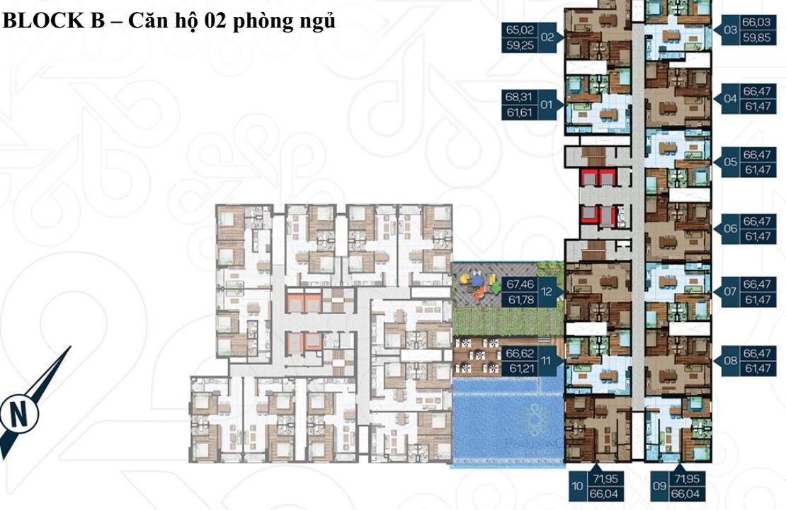 Mặt bằng Dự án căn hộ cao cấp Phú Đông Premier 11