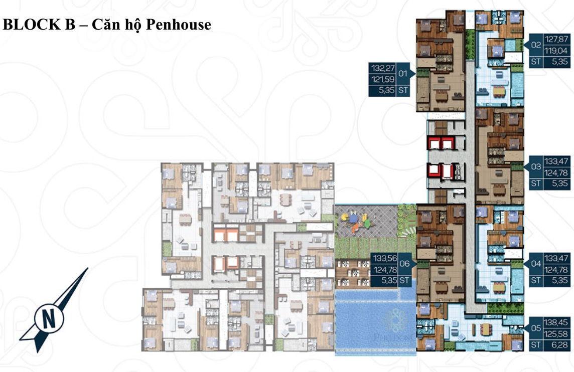 Mặt bằng Dự án căn hộ cao cấp Phú Đông Premier 10
