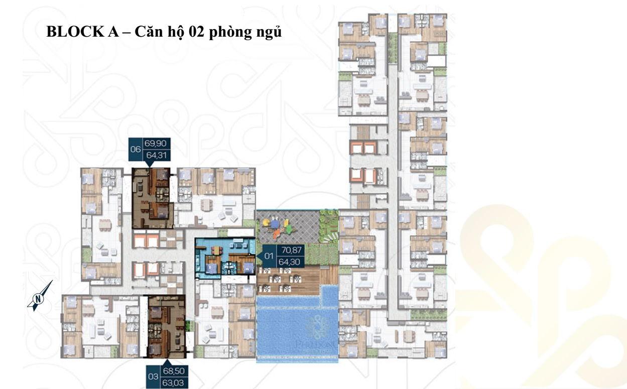 Mặt bằng Dự án căn hộ cao cấp Phú Đông Premier 12