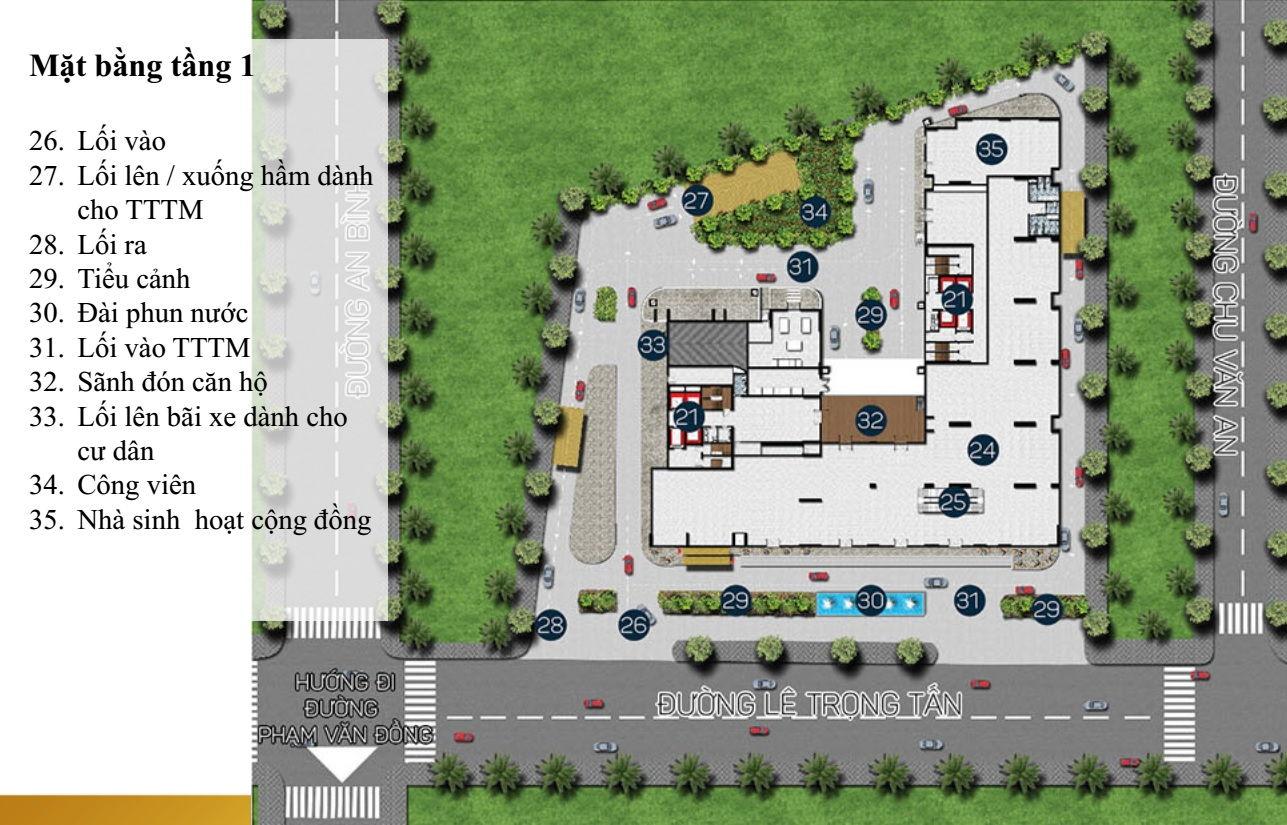 Mặt bằng Dự án căn hộ cao cấp Phú Đông Premier 1