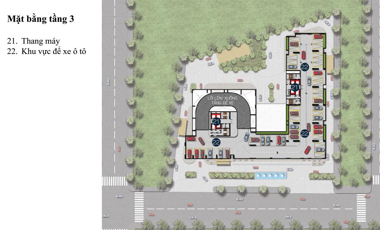 Mặt bằng Dự án căn hộ cao cấp Phú Đông Premier 3