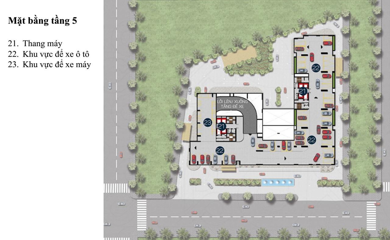 Mặt bằng Dự án căn hộ cao cấp Phú Đông Premier 5