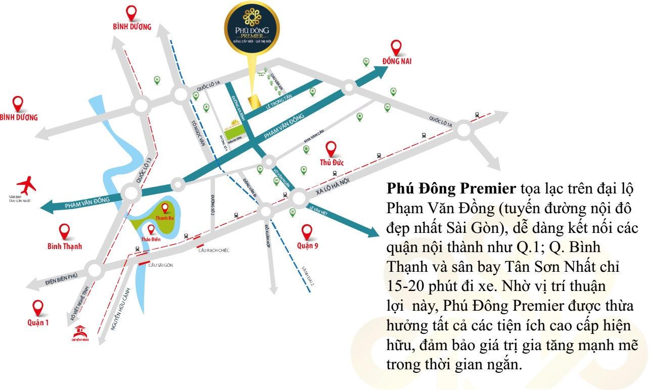 Mặt bằng Dự án căn hộ cao cấp Phú Đông Premier