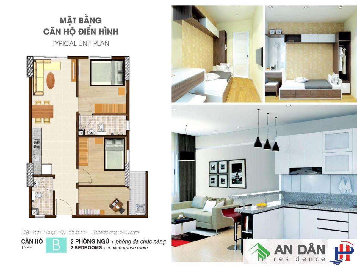 Thiết kế căn hộ An Dân Residence loại B