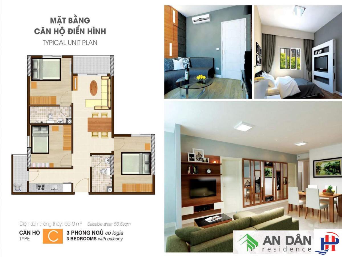 Thiết kế căn hộ An Dân Residence loại C