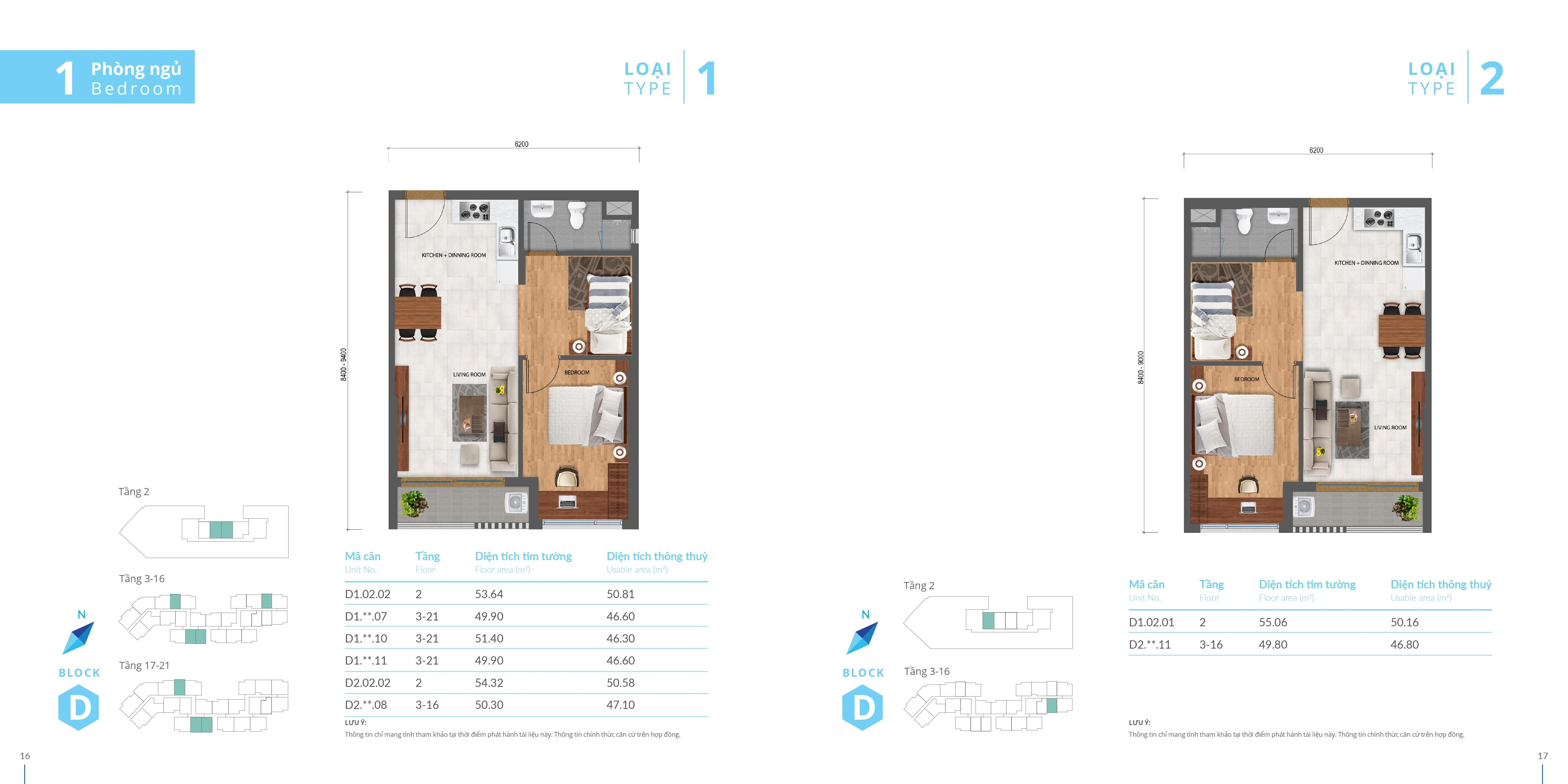 thiết kế căn hộ safira 1 phòng ngủ