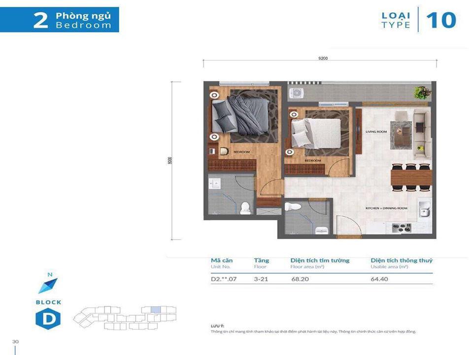 thiết kế nhà mẫu căn hộ Safira Khang Điền