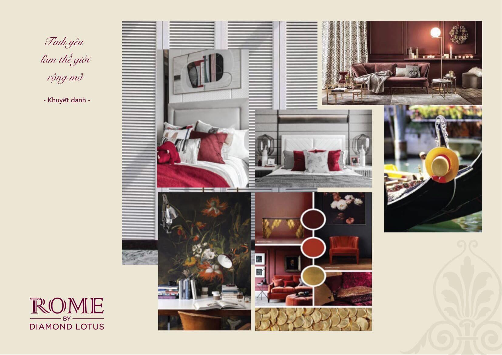 thiết kế căn hộ rome diamond lotus quận 2