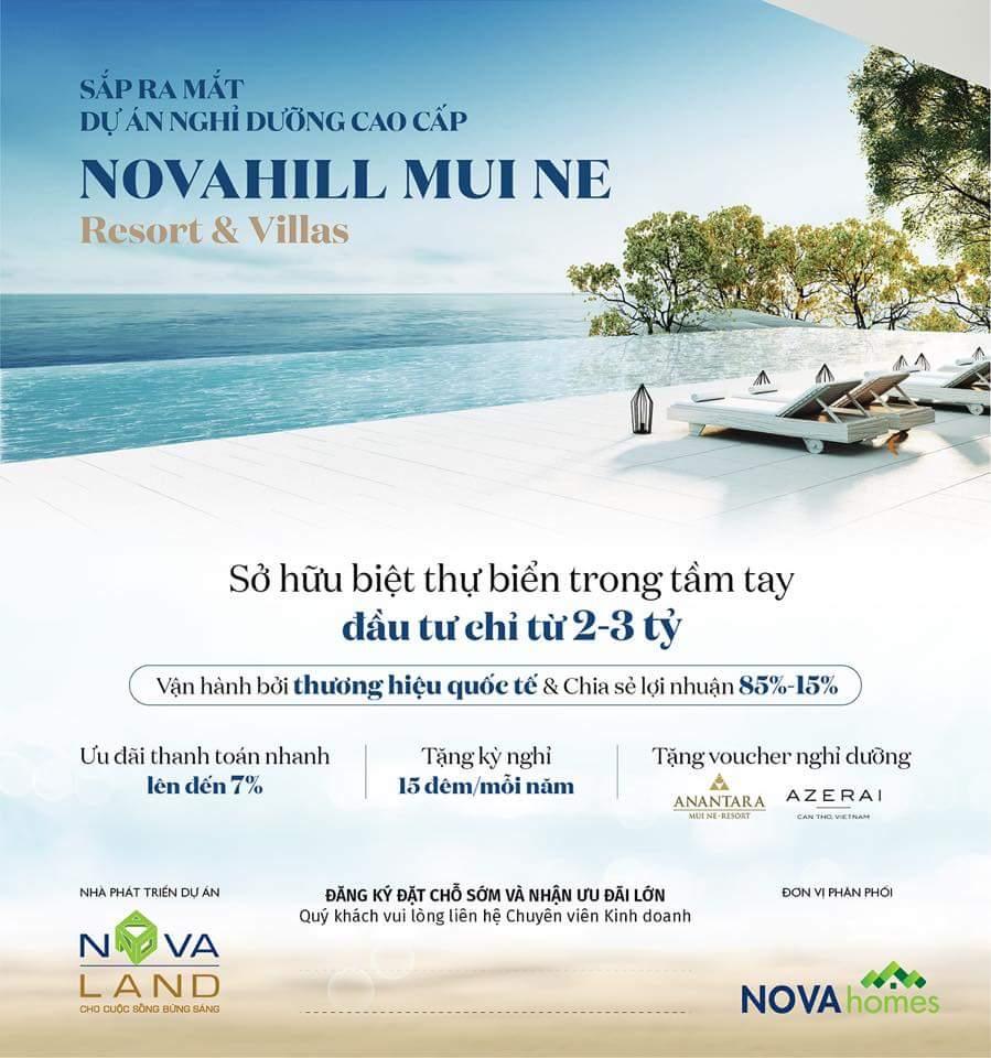 giá bán dự án nova hill phan thiết