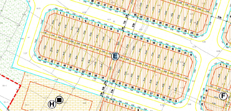 Mặt bằng dự án Maylandia khuE(44 nền)