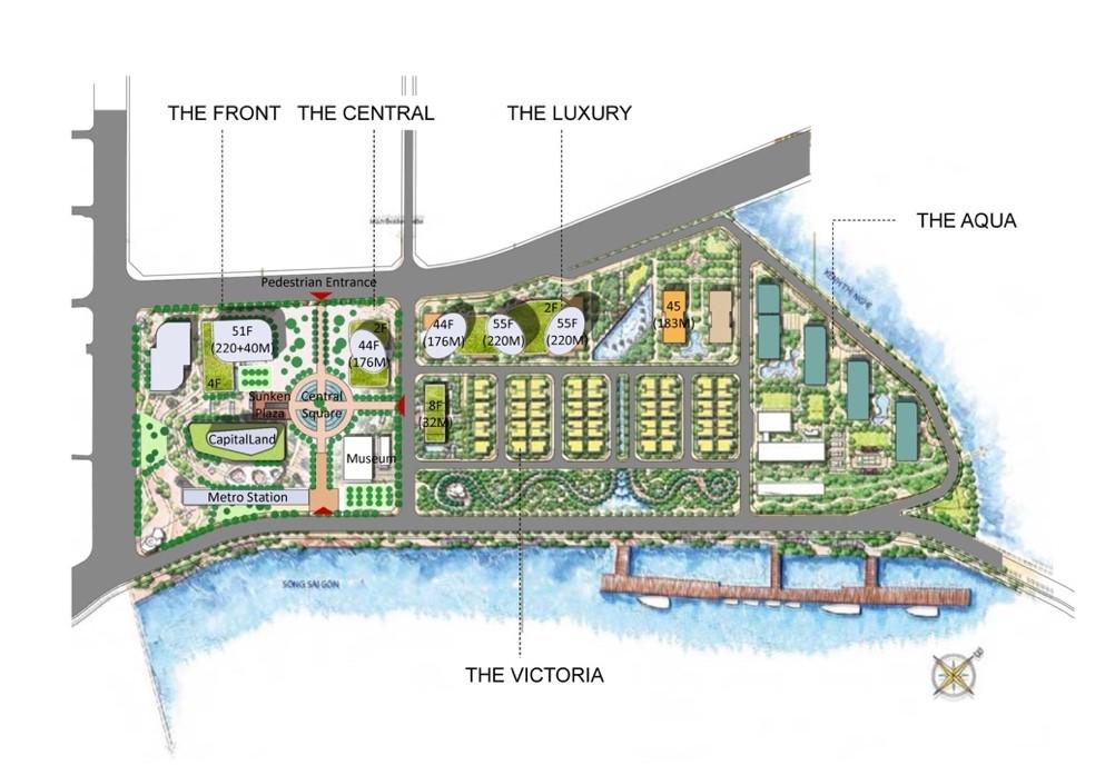mặt bằng dự án one alpha riverside quận 1