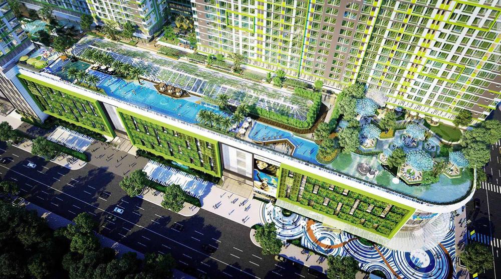Tiện ích Công viên và hồ bơi dự án Raemian Galaxy City Quận 2