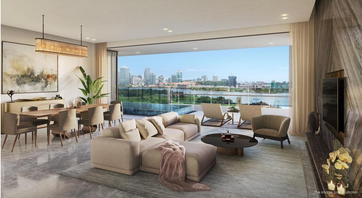 Phối cảnh thiết kế căn hộ The Riverin