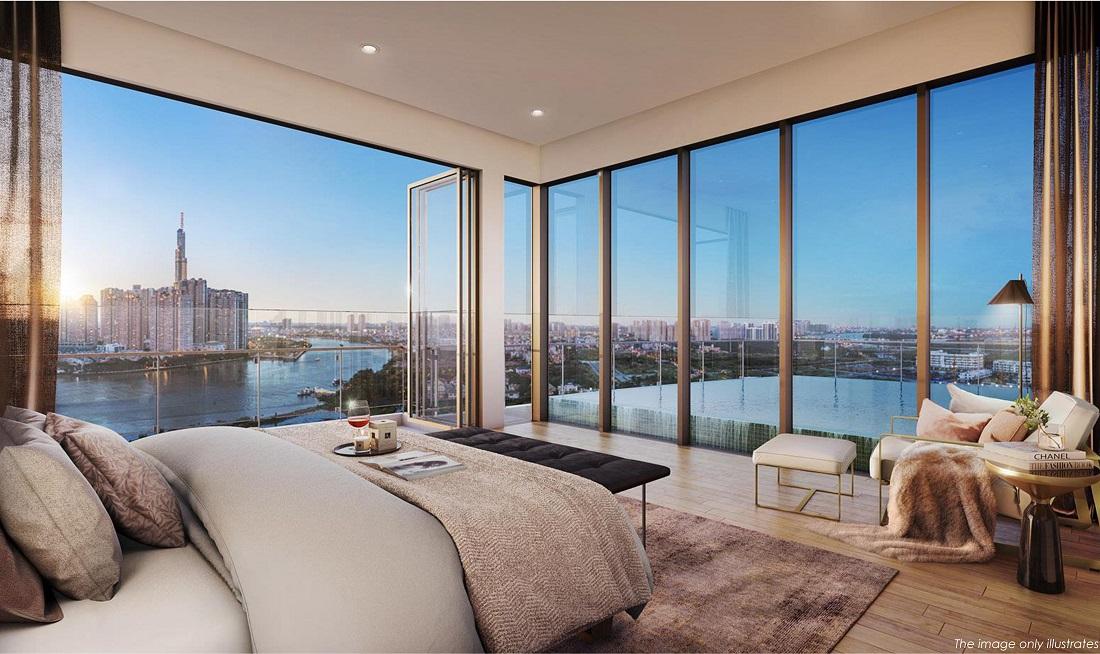 Phối cảnh thiết kế căn hộ The Riverin Thủ Thiêm