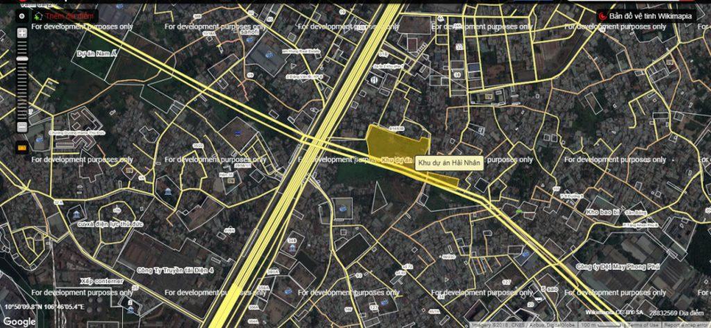 vị trí dự án maylandia quận 9