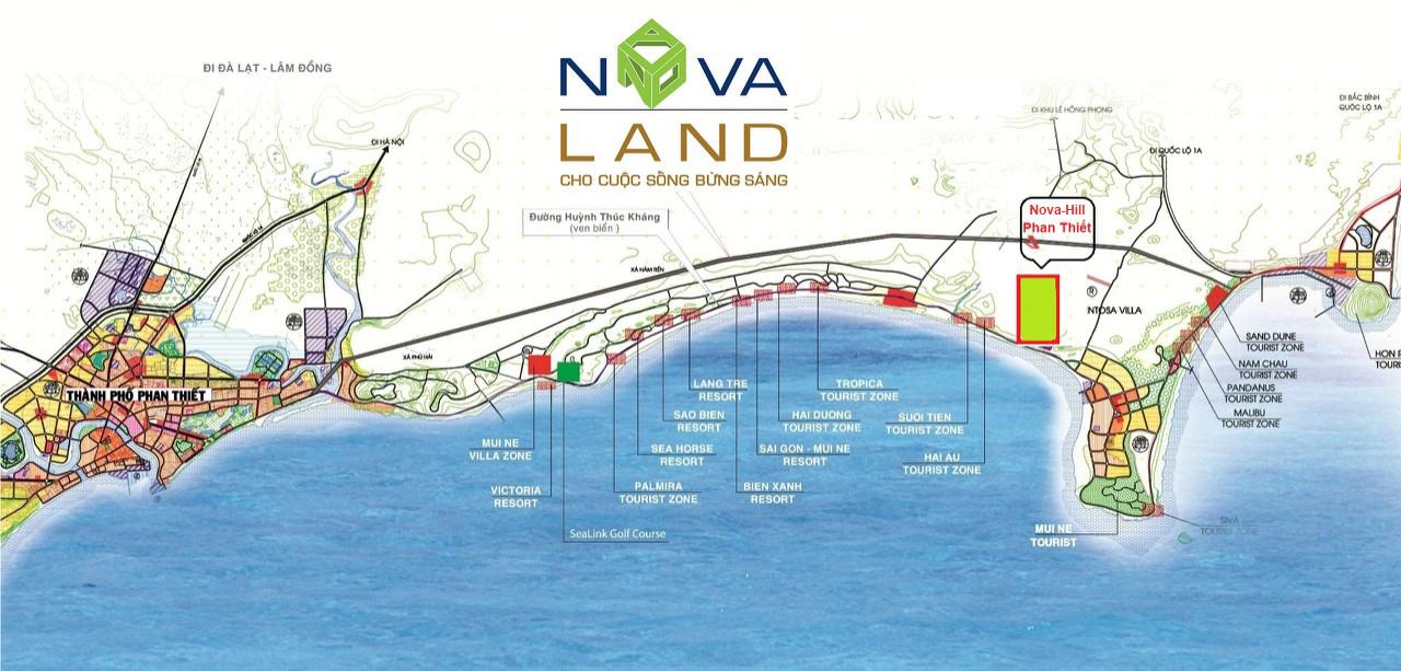 vị trí dự án nova hill phan thiết