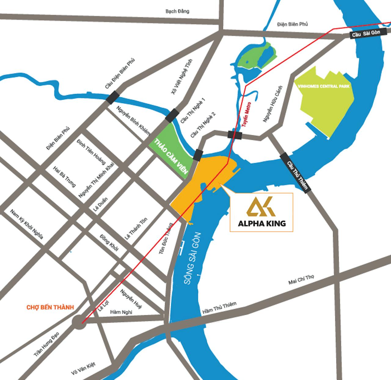 vị trí dự án one alpha riverside quận 1