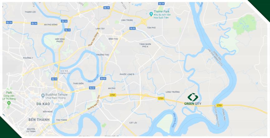 vị trí dự án green city