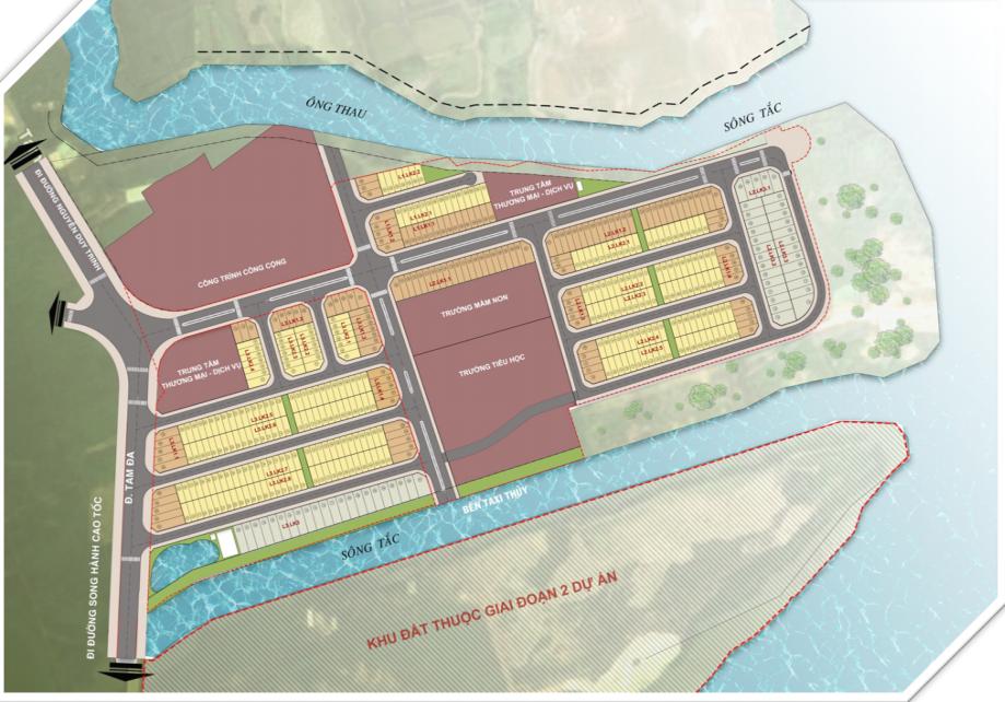 mặt bằng dự án green city