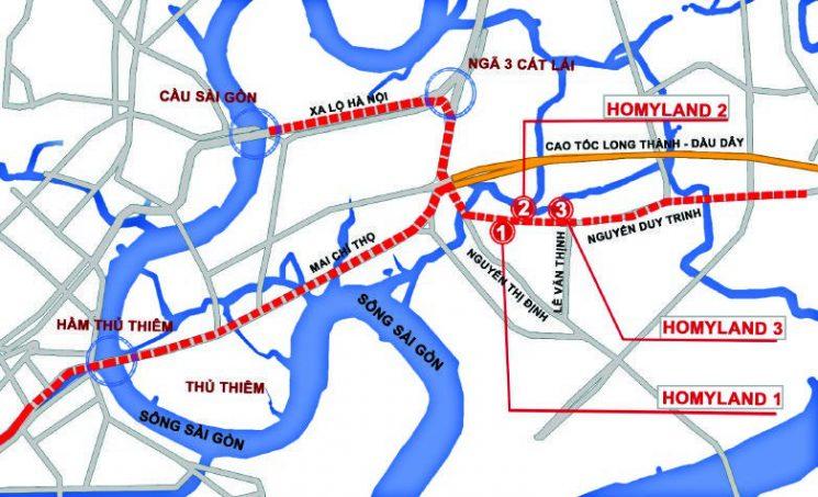 vị trí homyland riverside