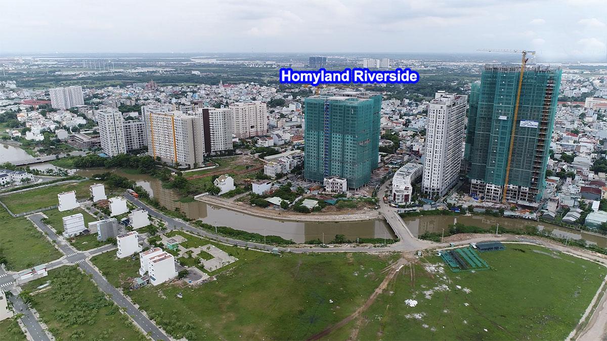 vị trí căn hộ Homyland Riverside