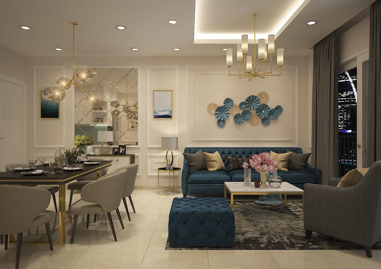 Thiết kế căn hộ Paris Hoàng Kim