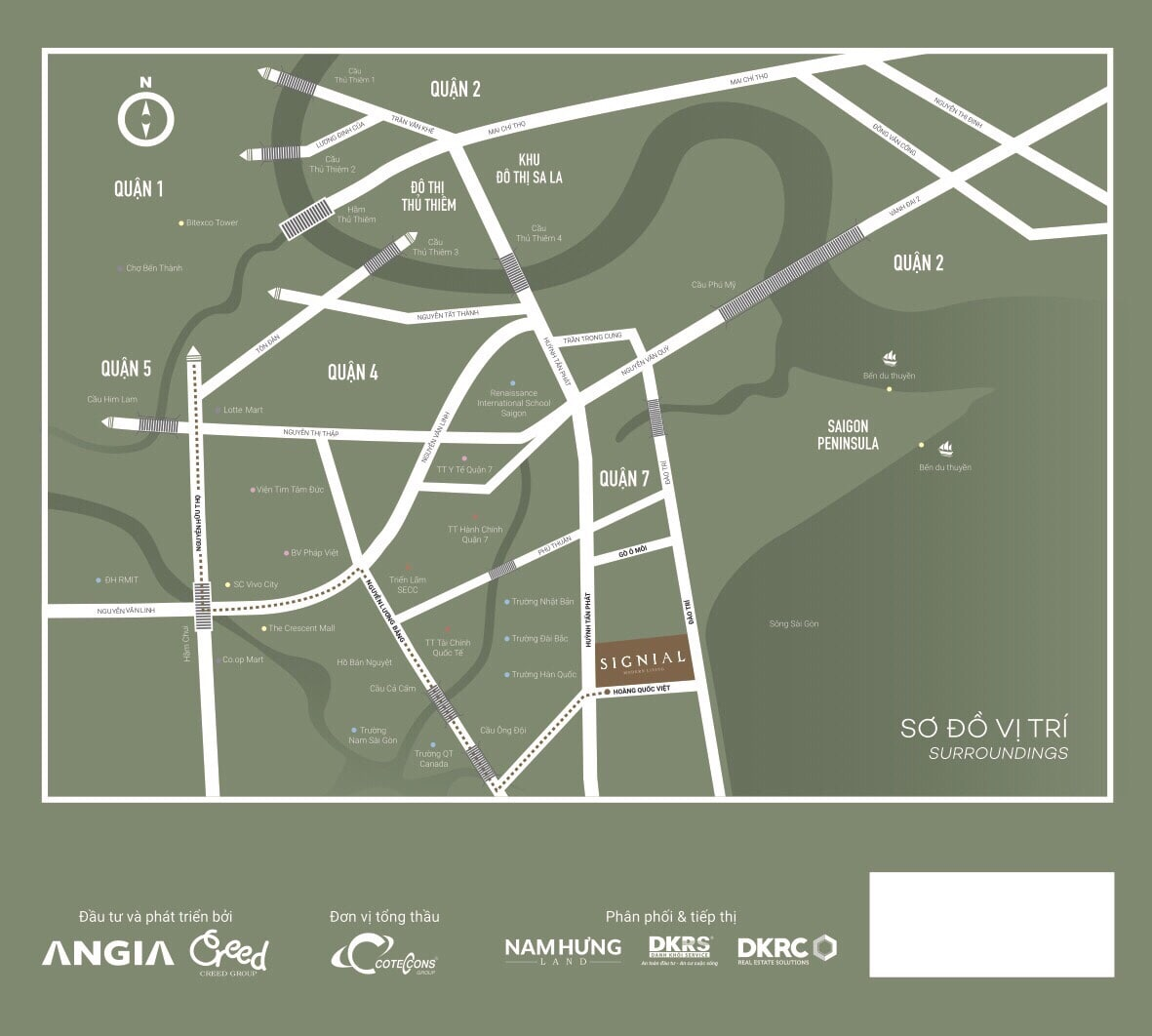 vị trí dự án the signial quận 7