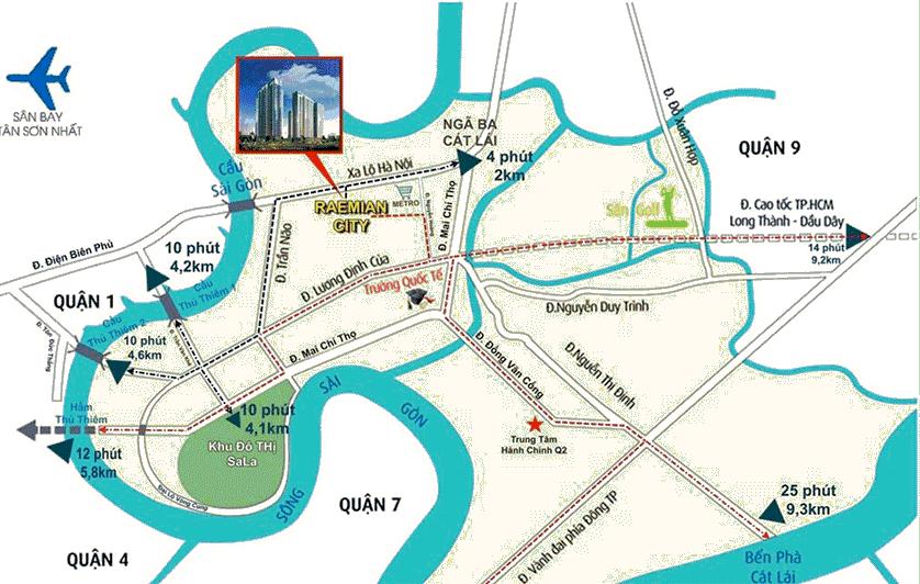 vị trí dự án Raemian city