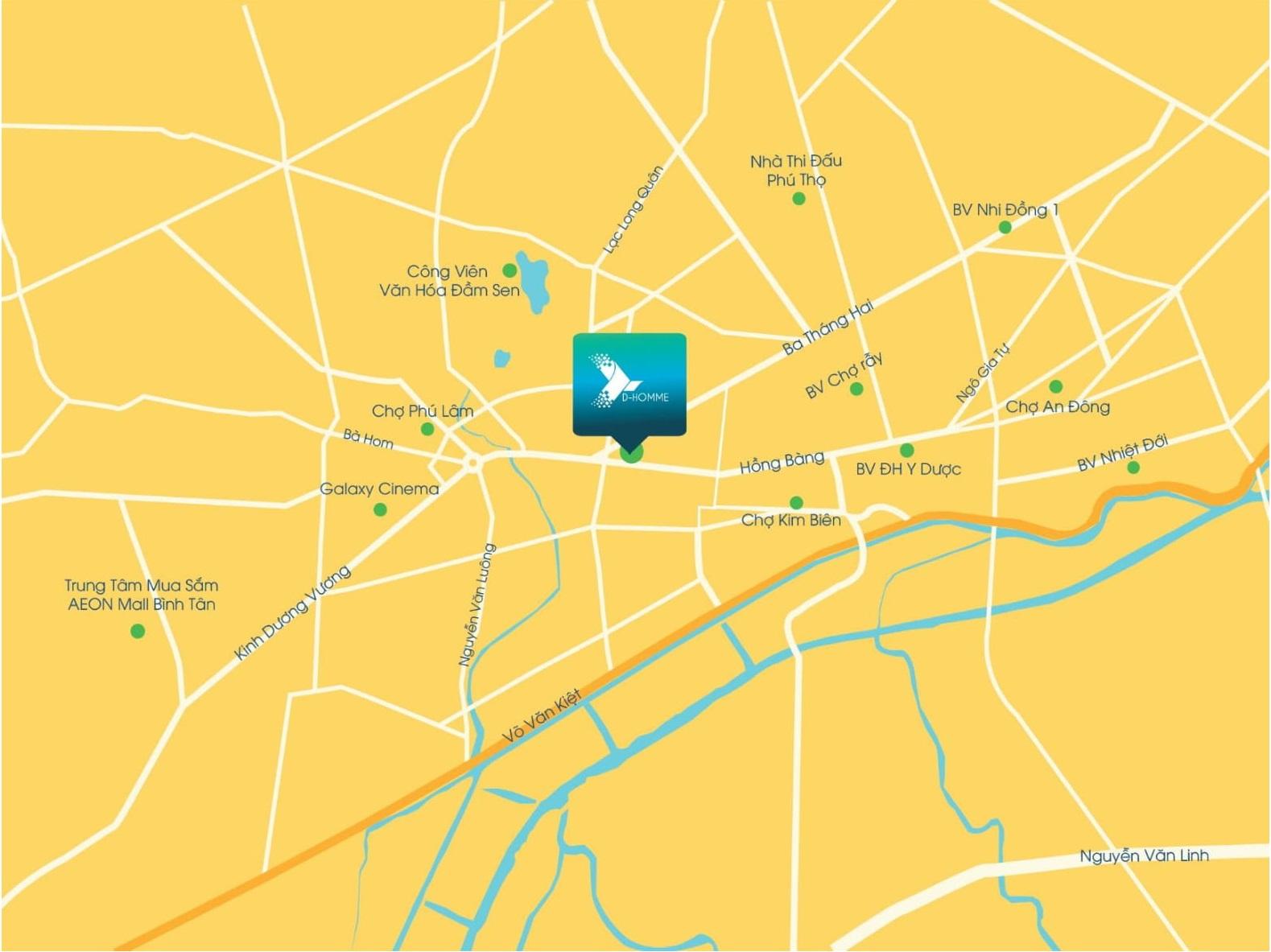 vị trí căn hộ d - homme