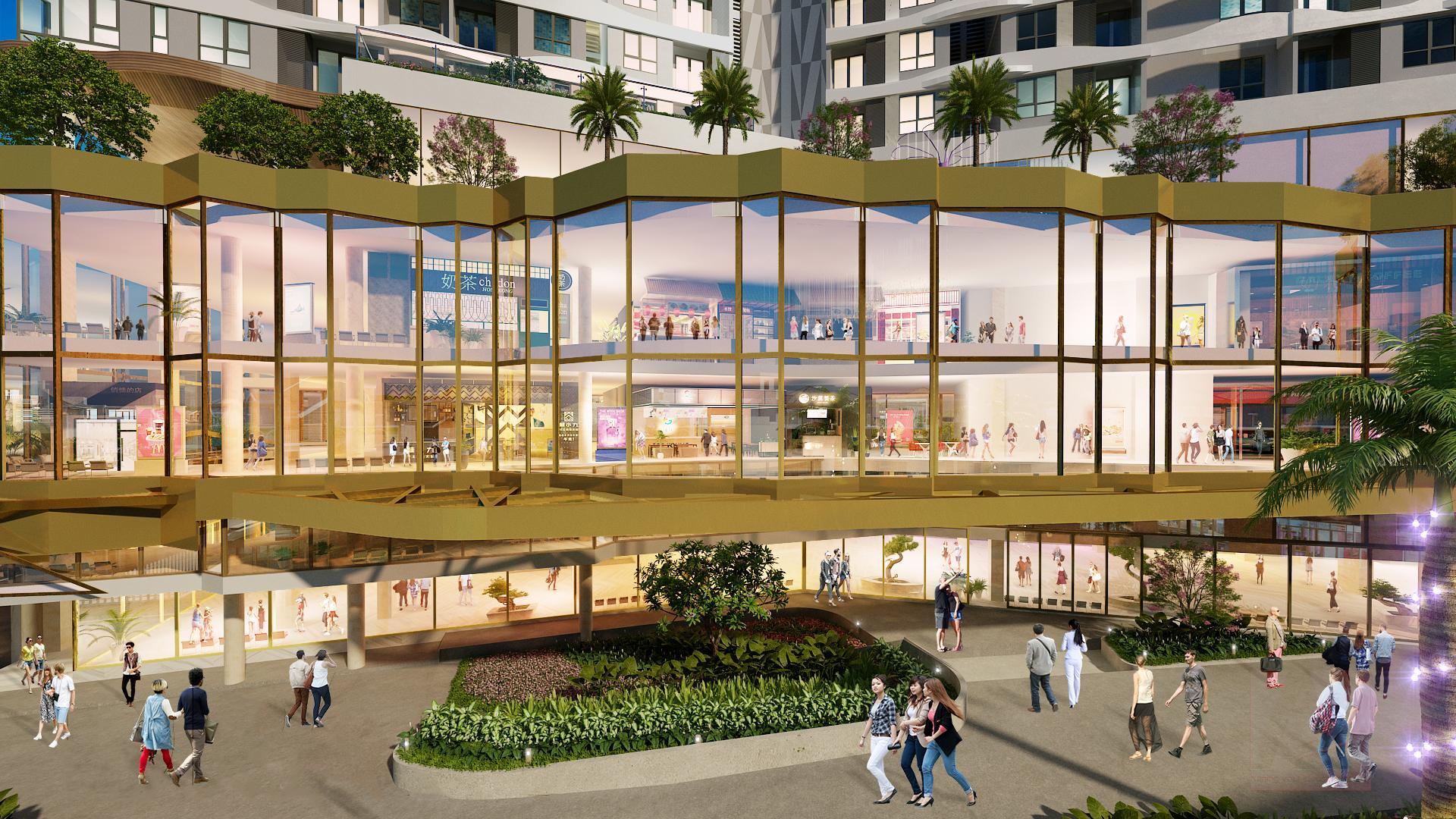 Phối cảnh trung tâm thương mại D-Mall