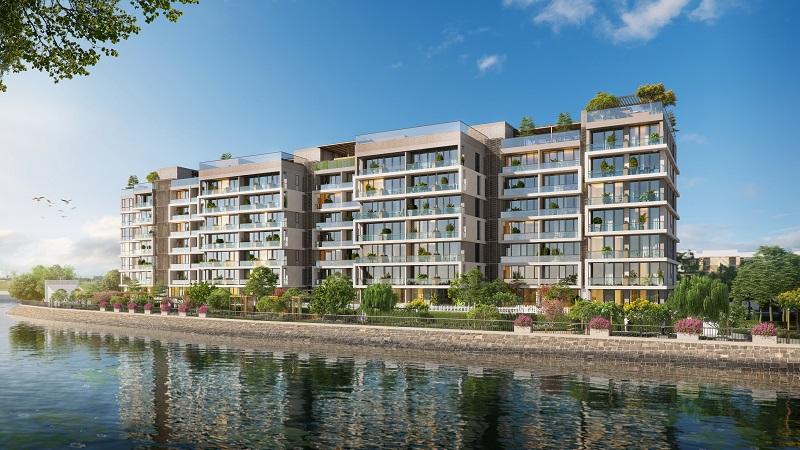 Phối cảnh Block J của dự án Panomax River Villa