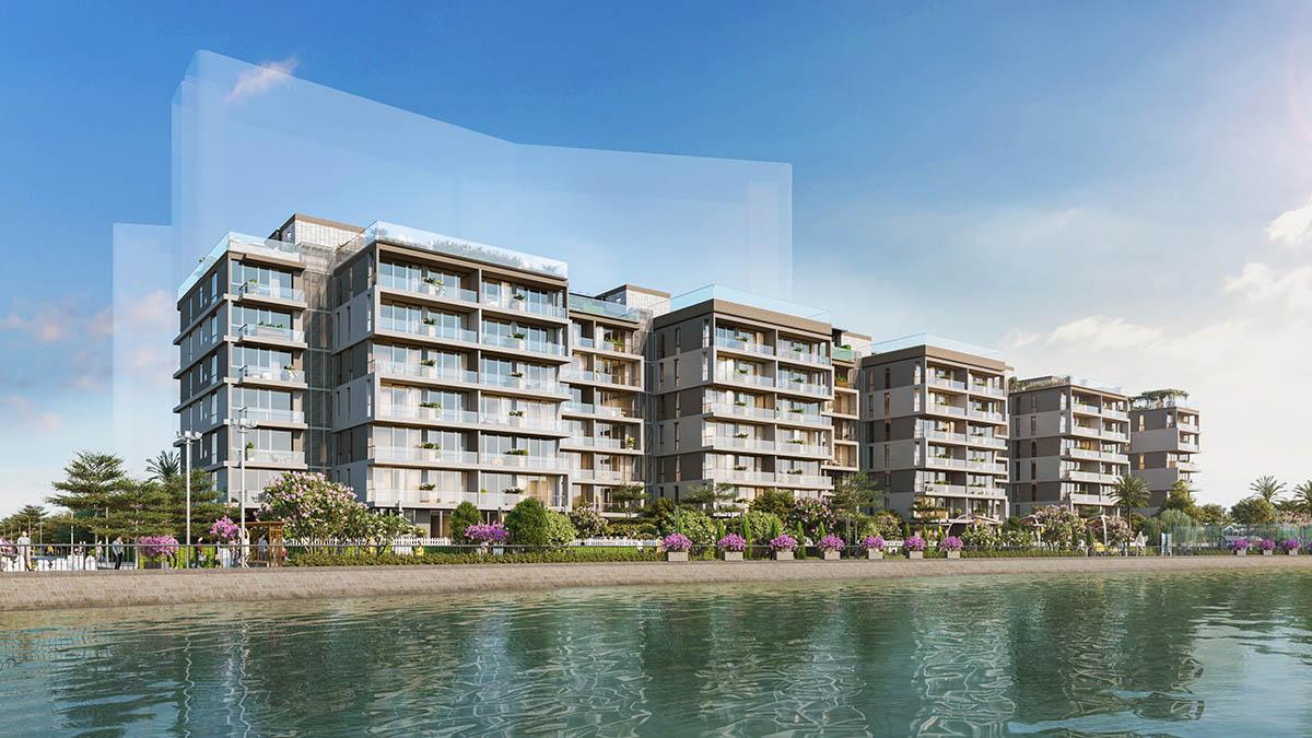 Phối cảnh Block J dự án căn hộ biệt thự Panomax River Villa