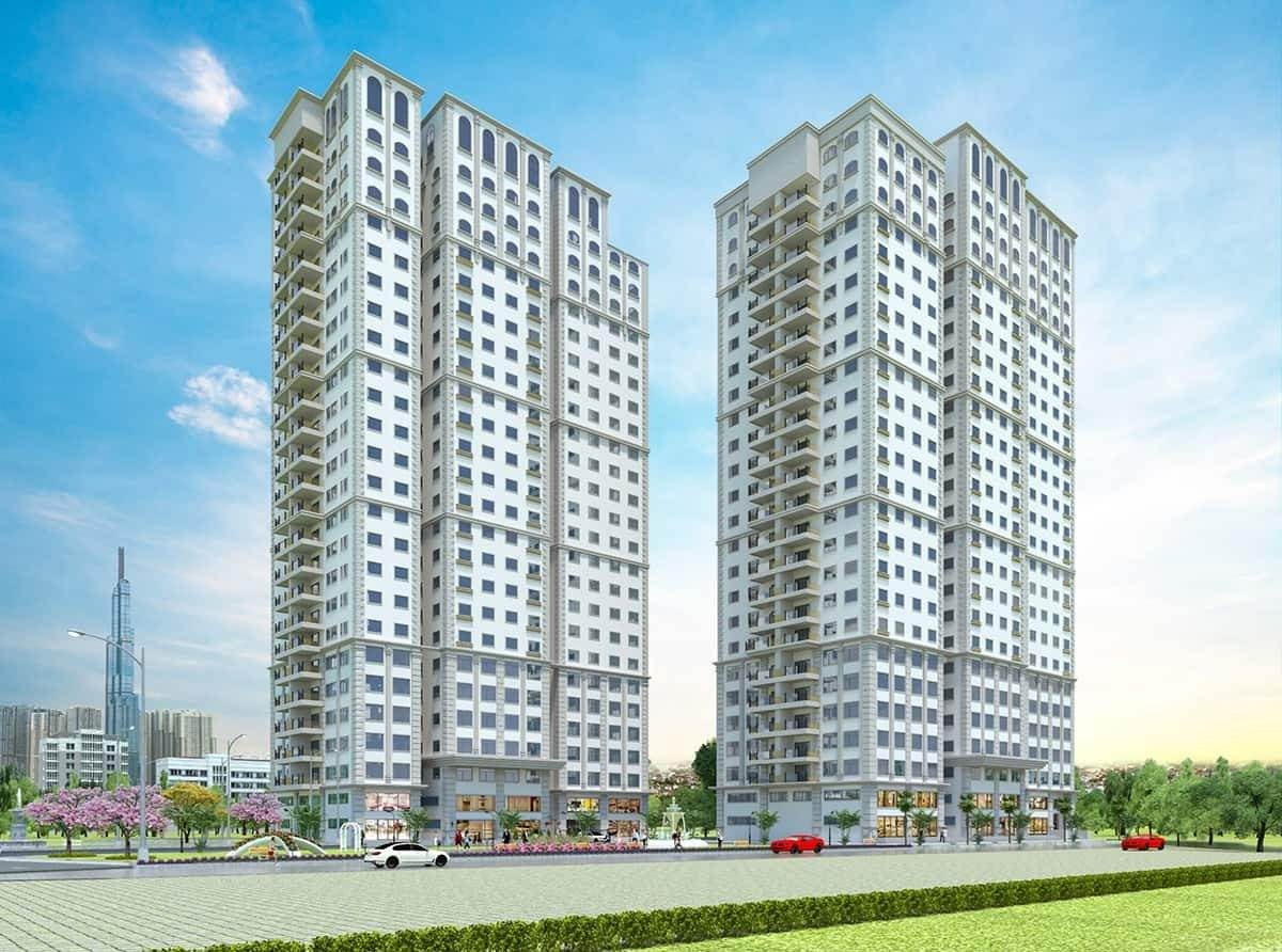 Phối cảnh dự án căn hộ Paris Hoàng Kim