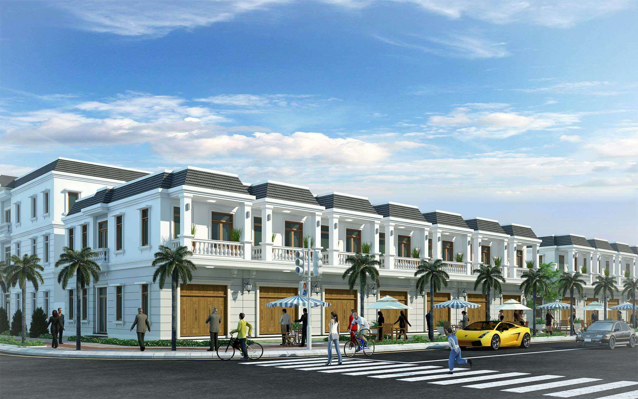 Phối cảnh thiết kế nhà phố Champaca Garden