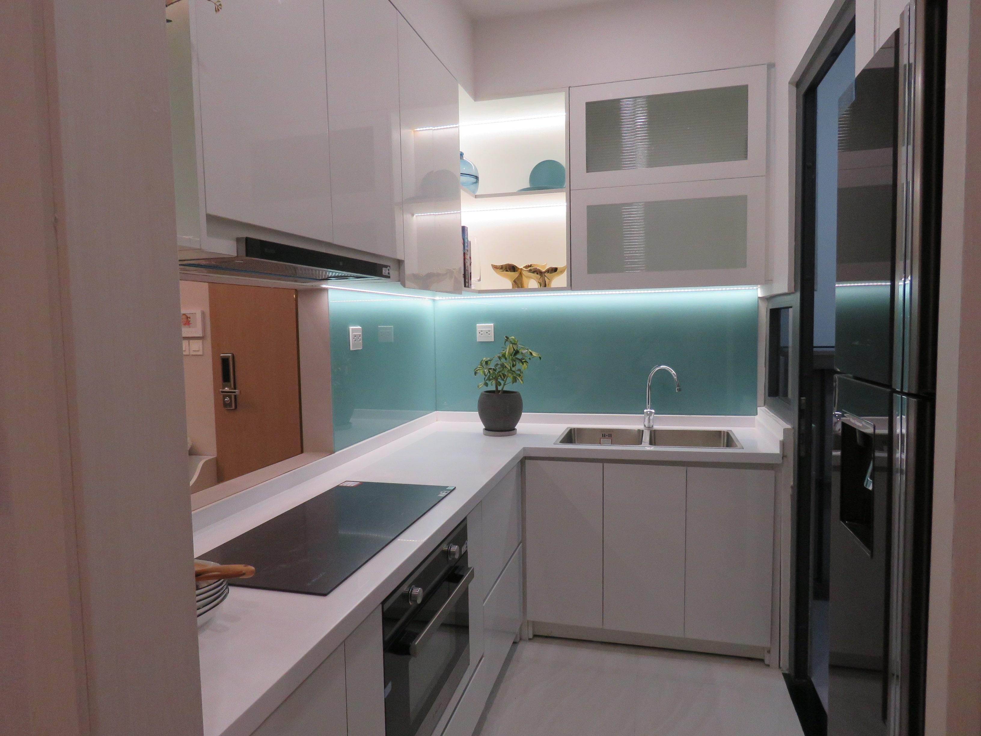 Thiết kế bếp đóng tại căn hộ D-Homme