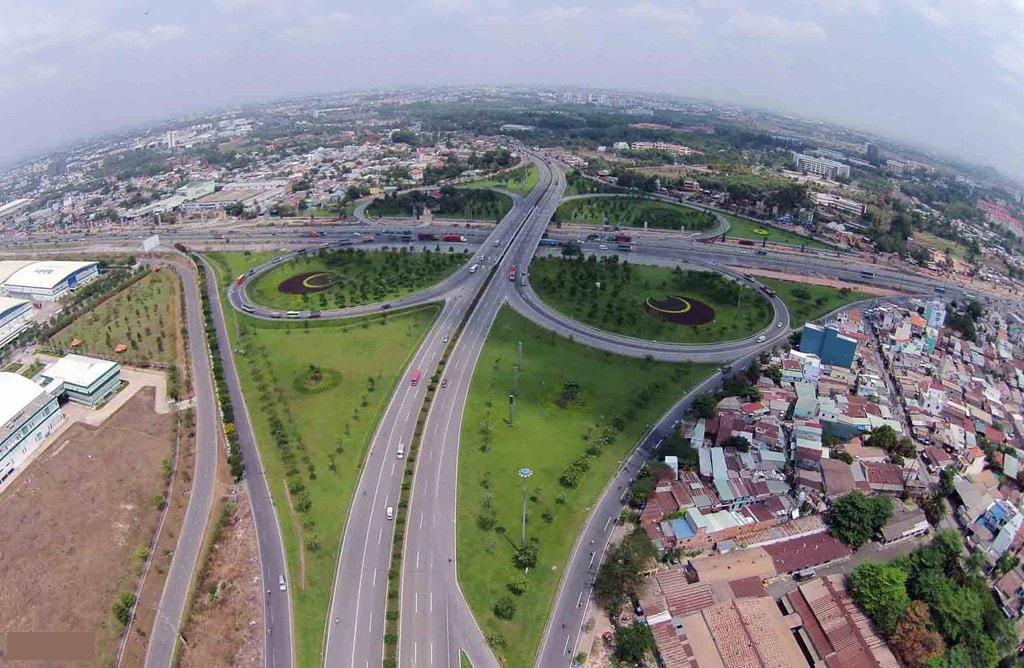 Cao tốc Long Thành - Dầu Dây nhìn từ trên cao