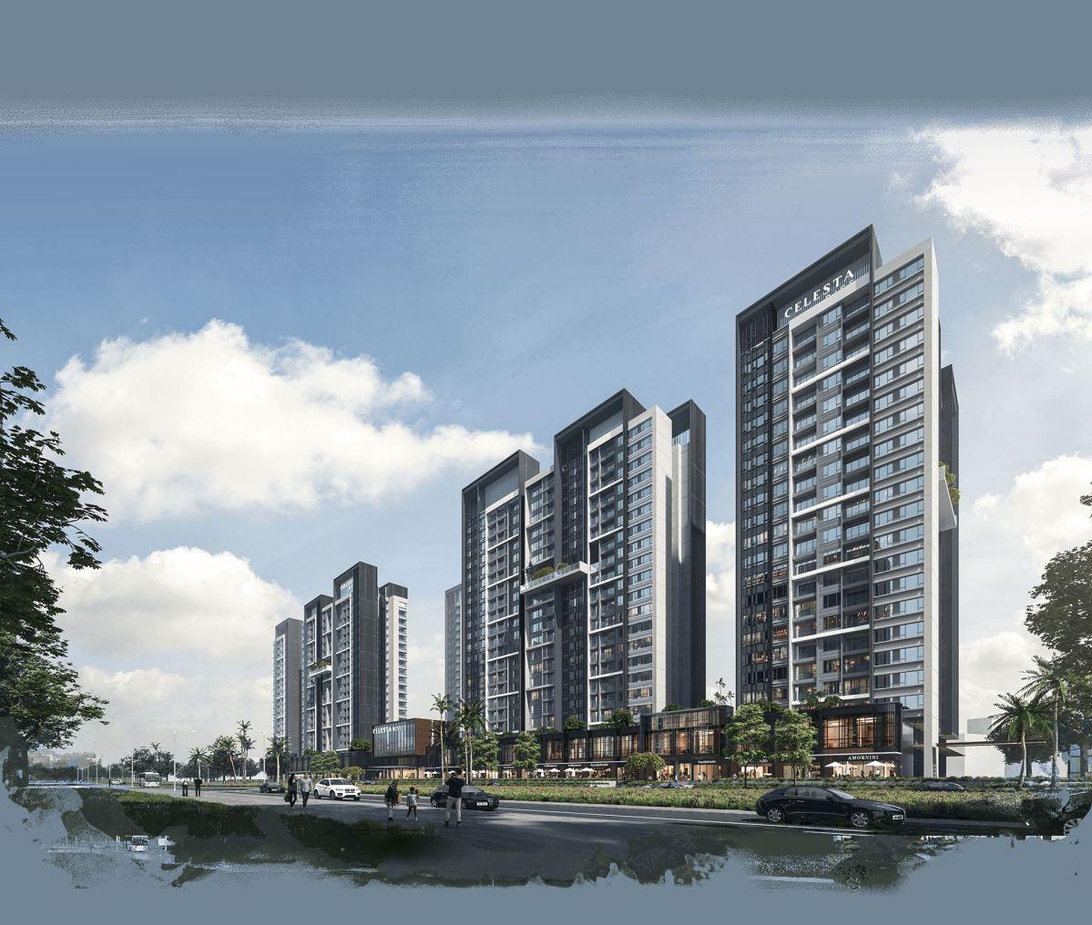 Phối cảnh dự án căn hộ Celesta Rise của Keppel Land