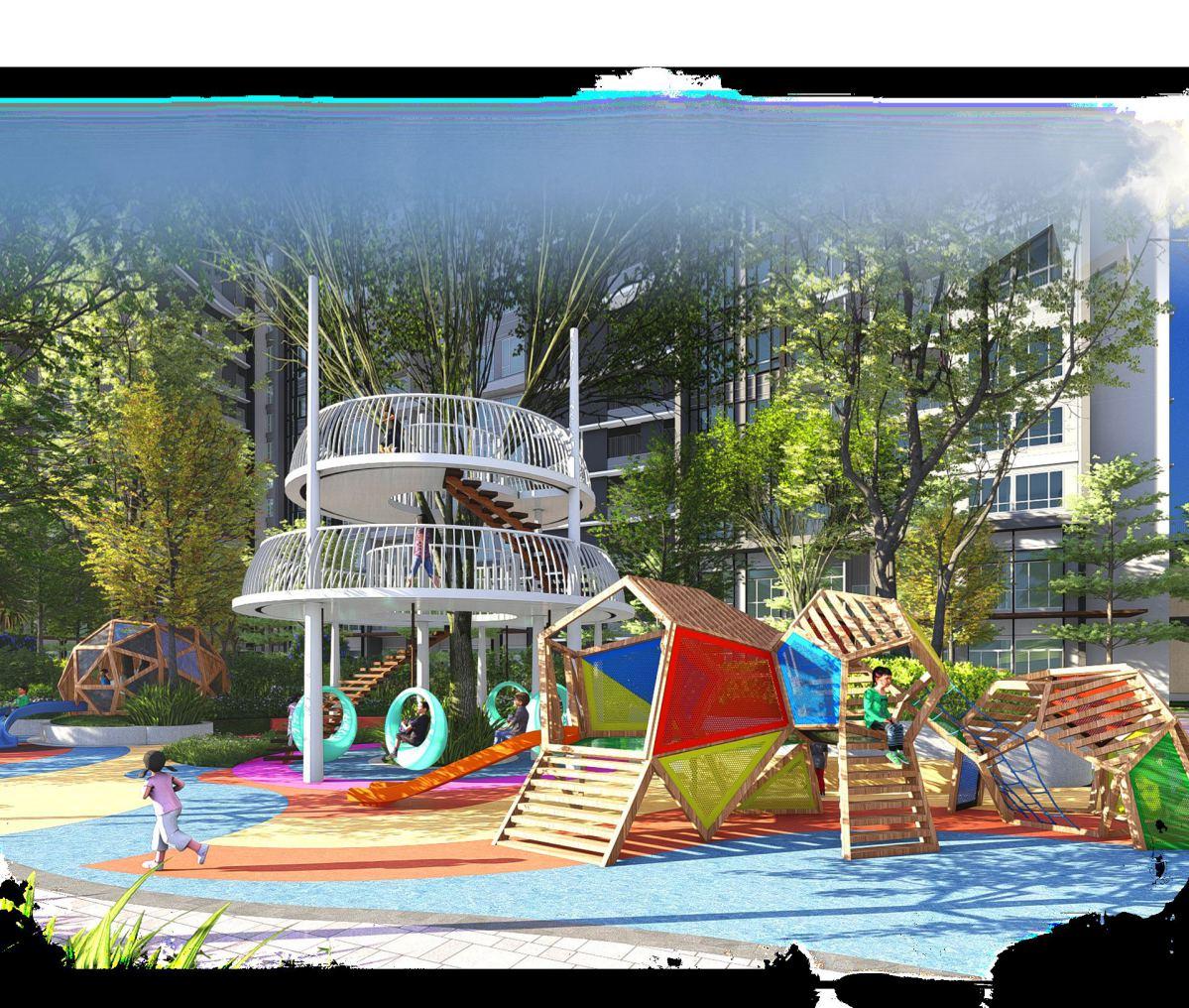 Khu nhà cây tại dự án cho trẻ em thỏa sức khám phá