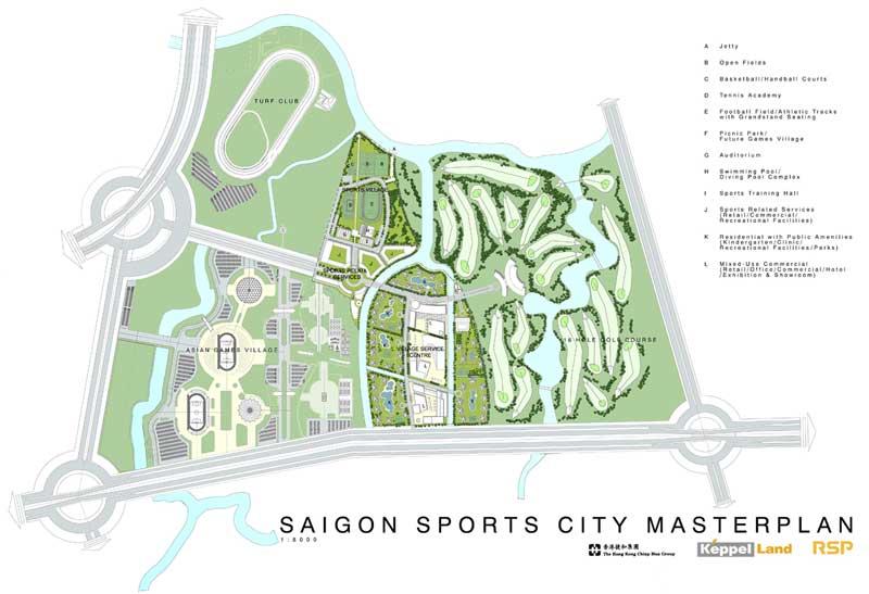 mặt bằng tổng thể dự án Saigon Sports City