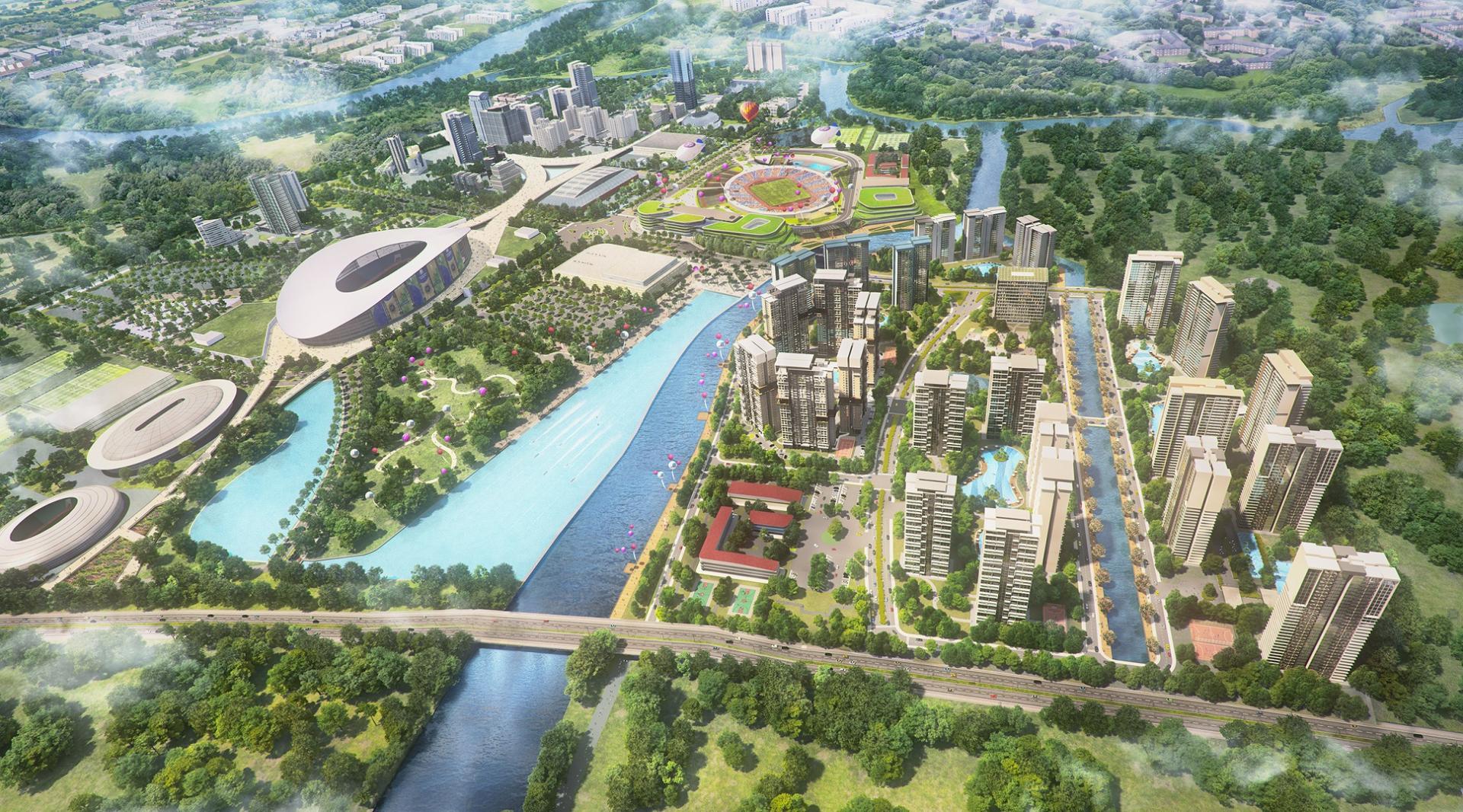phối cảnh dự án saigon sports city