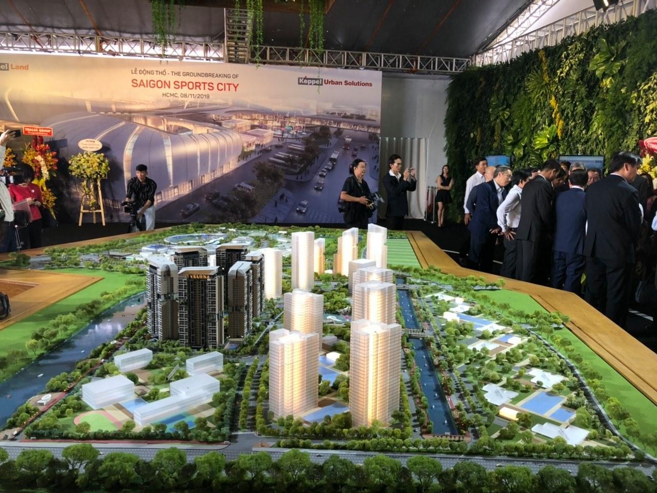 Sa bàn dự án Saigon Sports City