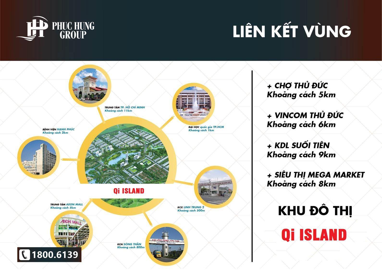 Tiện ích ngoại khu dự án Qi Island Bình Dương