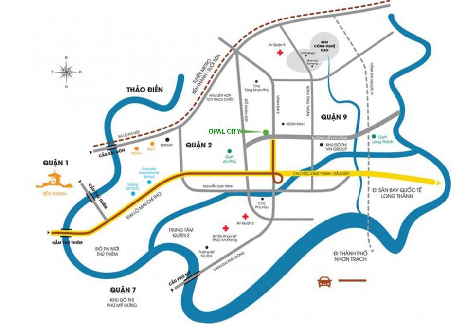 Vị trí dự án căn hộ Opal City