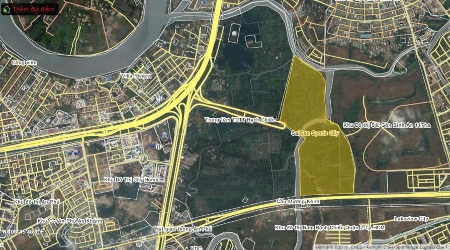 Vị trí dự án căn hộ Velona quận 2 nằm trong khu đô thị Saigon Sports City