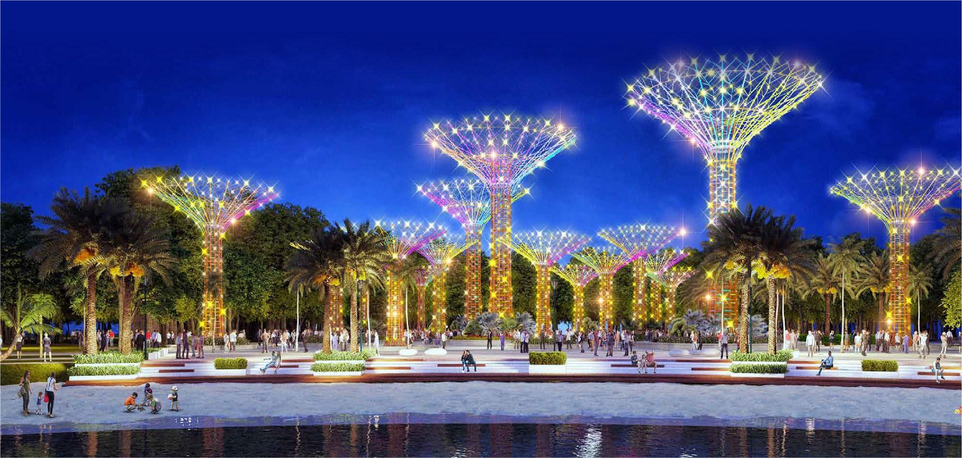 Phối cảnh công viên ánh sáng tại Vinhomes Grand Park quận 9