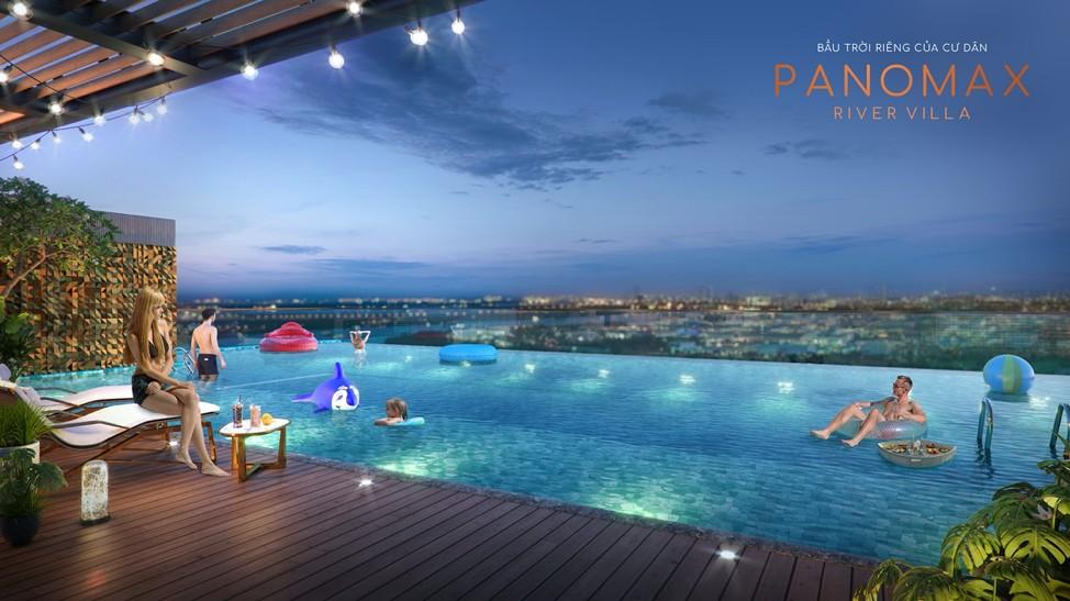 Mỗi căn hộ biệt thự Panomax River Villa đều có hồ bơi riêng