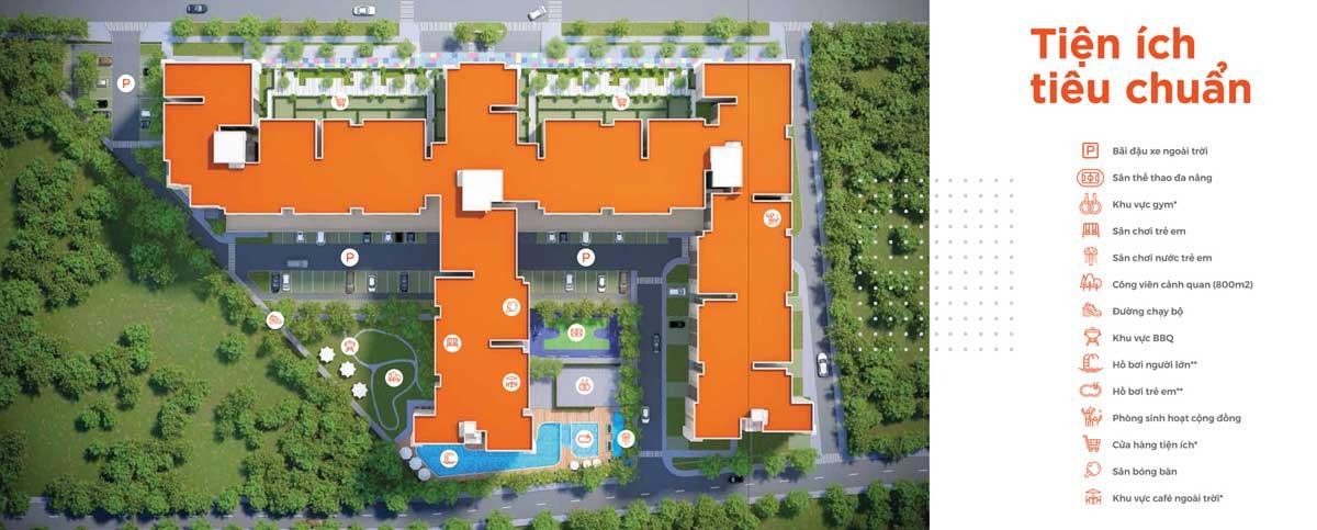 Mặt bằng tiện ích dự án căn hộ HausNima